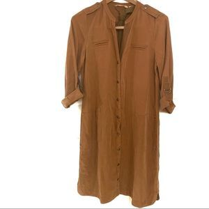 Soft Surroundings Button Down Belted Trench Dress